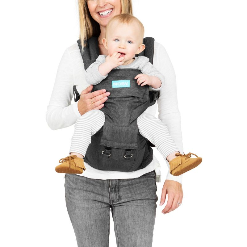 Moby 2-in-1 Carrier and Hip Seat-Grey