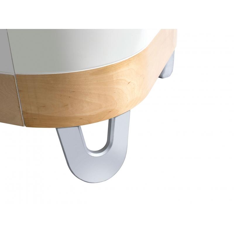 Gaia Serena Junior Bed Extension-White/Natural