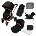 Ickle Bubba Stomp V4 Special Edition All-In-One Travel System With Isofix Base-Midnight Bronze