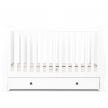 Silver Cross Nostalgia Sleigh Cot Bed-Pure White