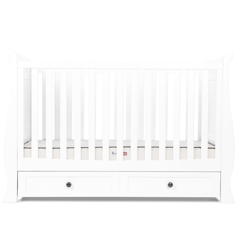 Image of Silver Cross Nostalgia Sleigh Cot Bed-Pure White