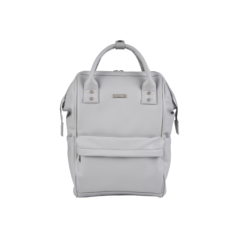 BabaBing Mani Backpack Changing Bag Faux Leather-Dove Grey