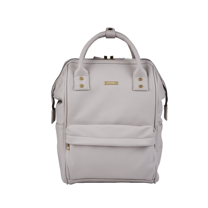 BabaBing Mani Backpack Changing Bag Faux Leather-Grey Blush