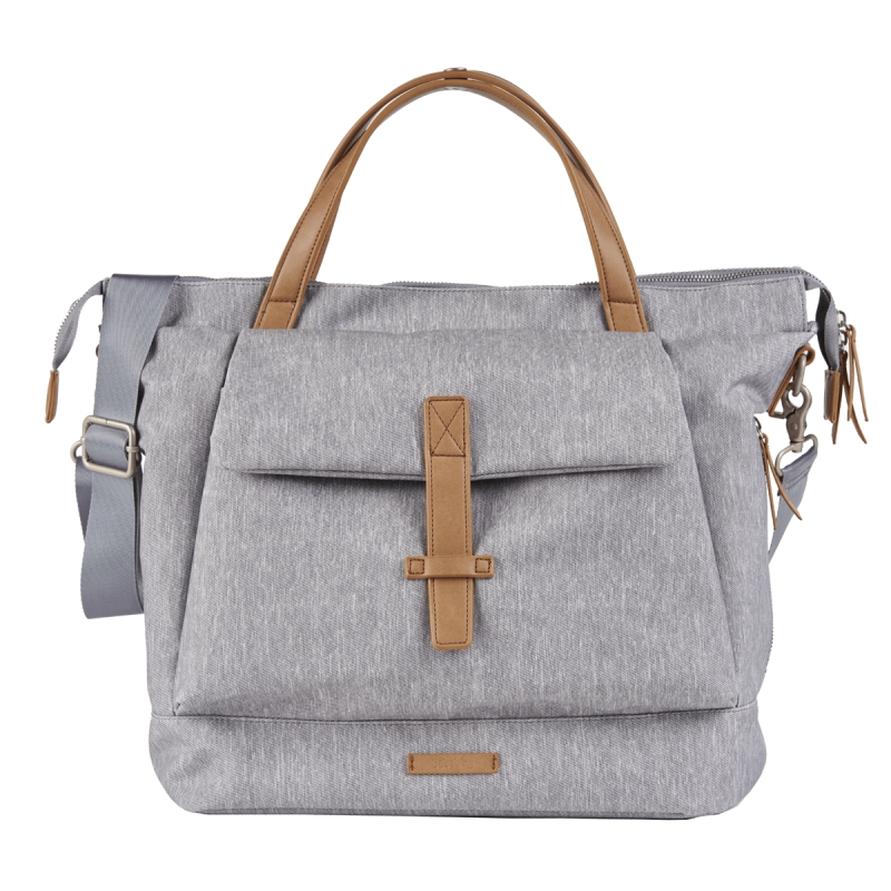 BabaBing Mani Backpack Changing Bag Faux Leather-Grey