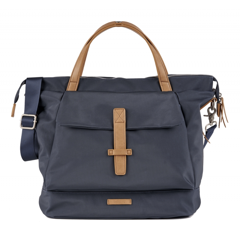 BabaBing Mani Backpack Changing Bag Faux Leather-Navy