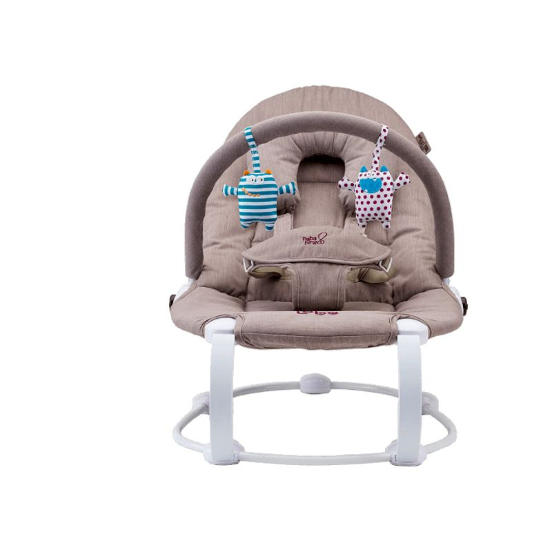 BabaBing! Lobo2 Little Monsters Baby Bouncer, Natural
