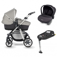 Silver Cross Pioneer Special Edition Pram System+Simplicity Car Seat+Isofix Base-Tranquil