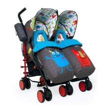 Cosatto Supa Dupa Twin Stroller-Monster Mob (New)