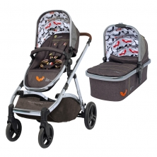 Cosatto Wow XL 3in1 Pushchair & FREE Dock I-Size Car Seat-Mister Fox (New 2019)