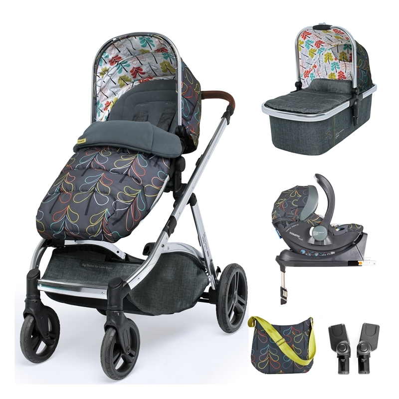 Cosatto Wow XL 3in1 Whole 9 Yards Travel System with i-Size Car Seat-Nordik (New 2019)
