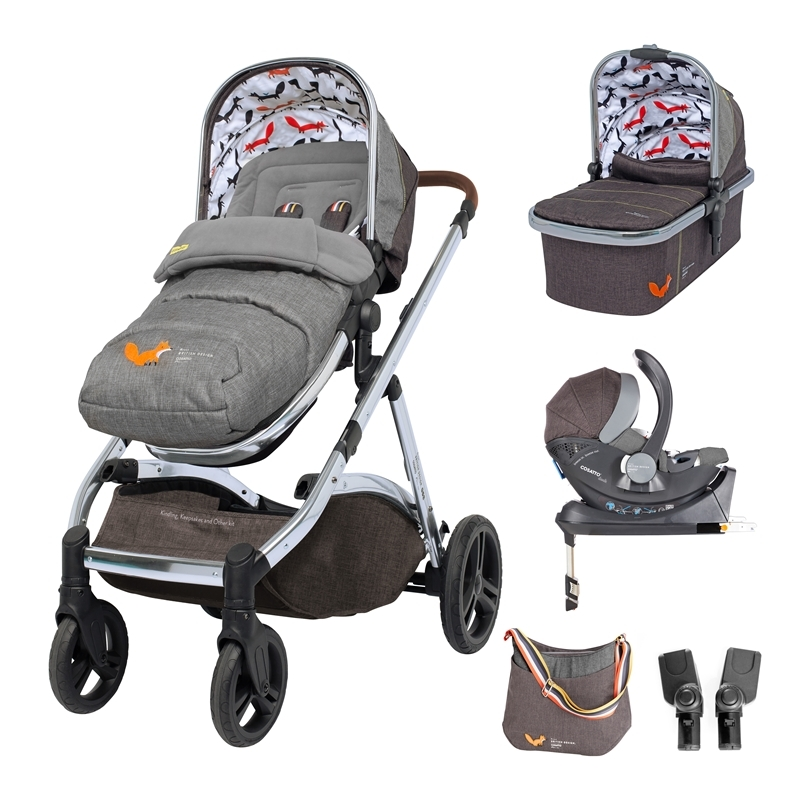 Cosatto Wow XL 3in1 Whole 9 Yards Travel System with i-Size Car Seat-Mister Fox (New 2019)