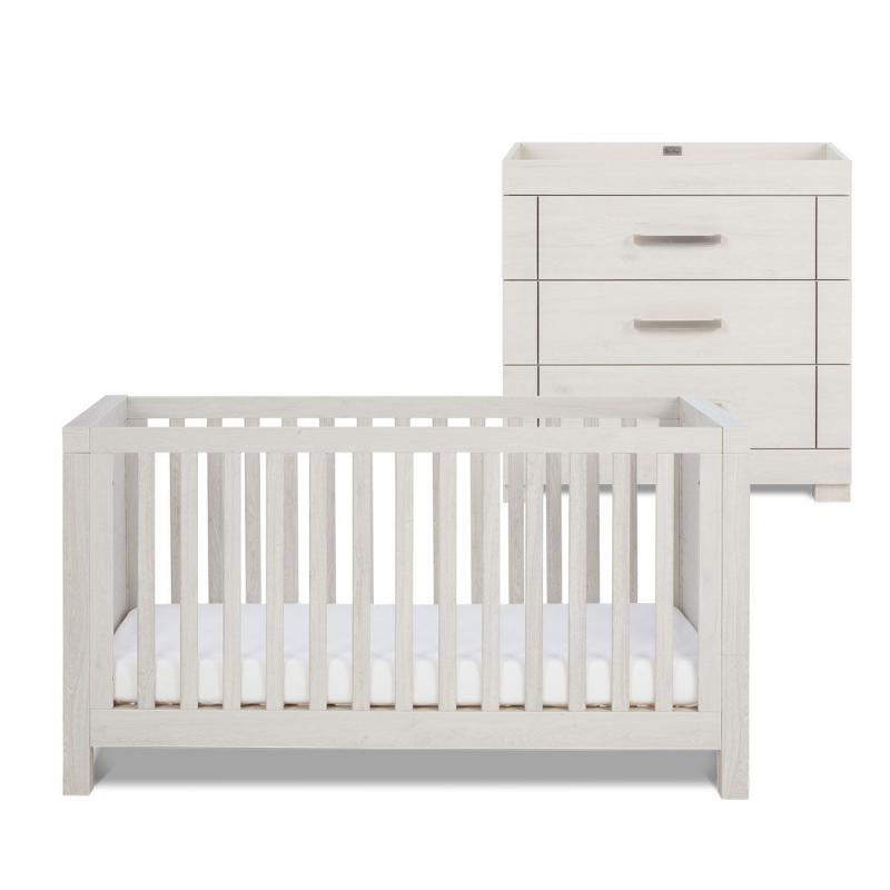 Silver Cross Coastline Cot Bed and Dresser
