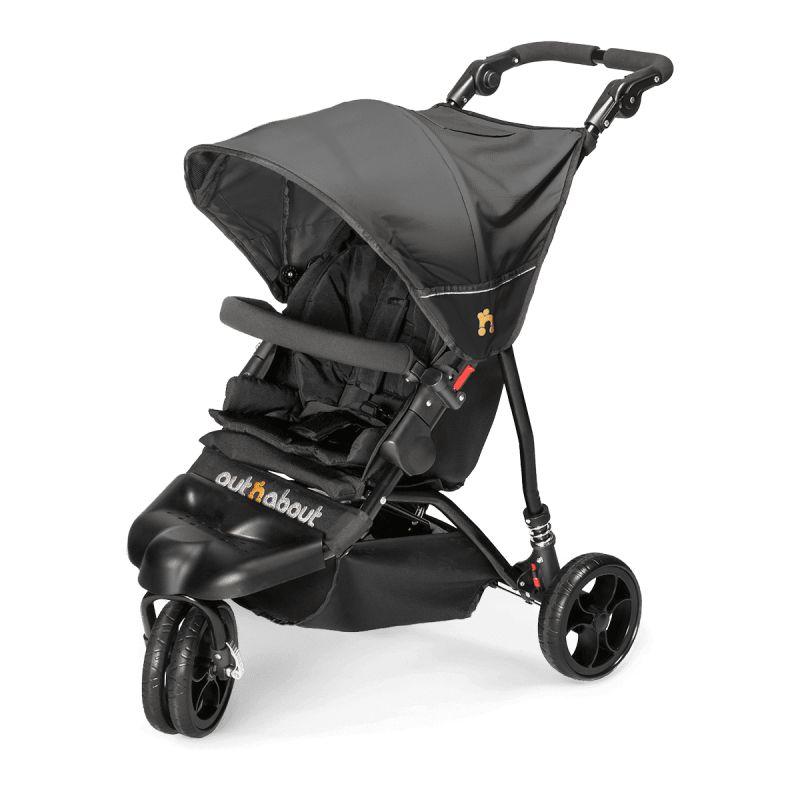 Out n About Little Nipper Single Stroller-Jet Black