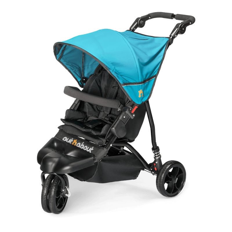 Out n About Little Nipper Single Stroller-Marine Blue