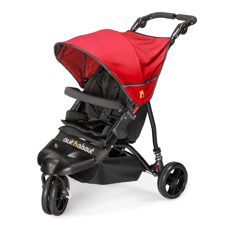 Out n About Little Nipper Single Stroller-Poppy Red