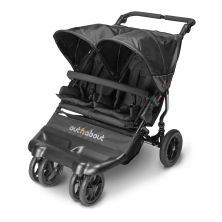 Out n About Little Nipper Double Stroller-Jet Black