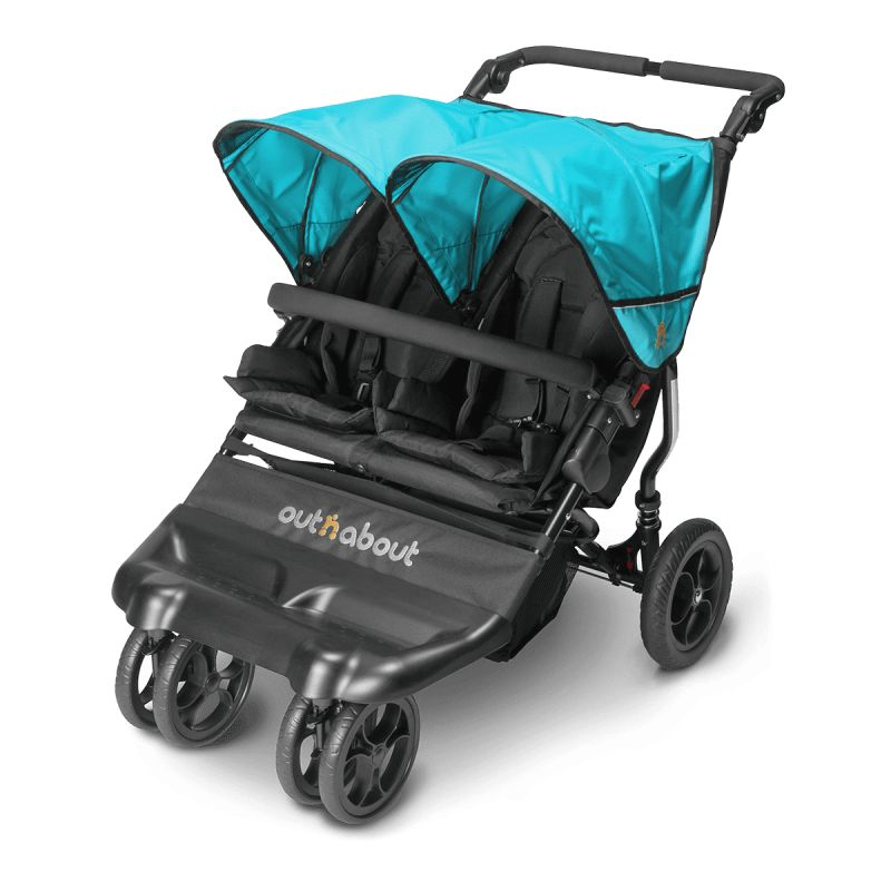 Out n About Little Nipper Double Stroller-Marine Blue