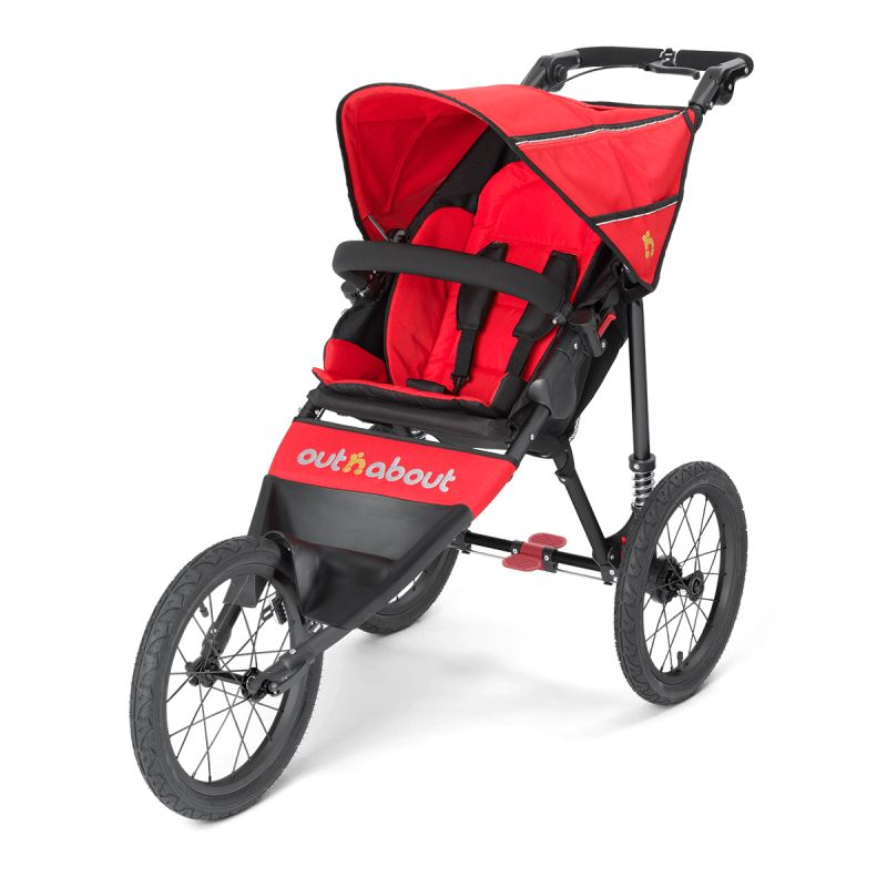 Out N About Nipper SPORT V4 Stroller Carnival Red