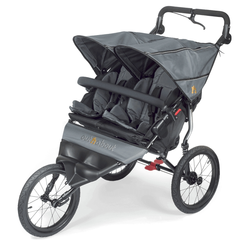 Out n About Nipper DOUBLE SPORT Stroller-Steel Grey