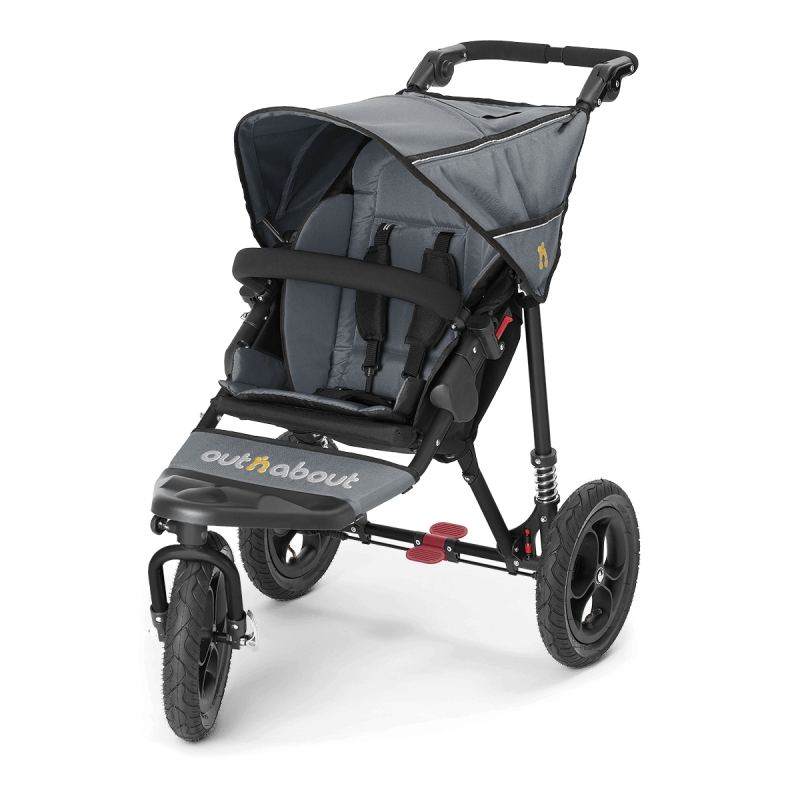 Out n About Nipper Single 360 V4 Stroller-Steel Grey + FREE Clip On Toy Worth £20!