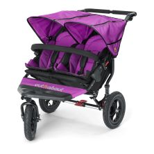 Out n About Nipper Double 360 V4 Stroller-Purple Punch