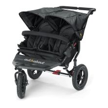 Out n About Nipper Double 360 V4 Stroller-Raven Black + FREE Clip On Toy Worth £20!