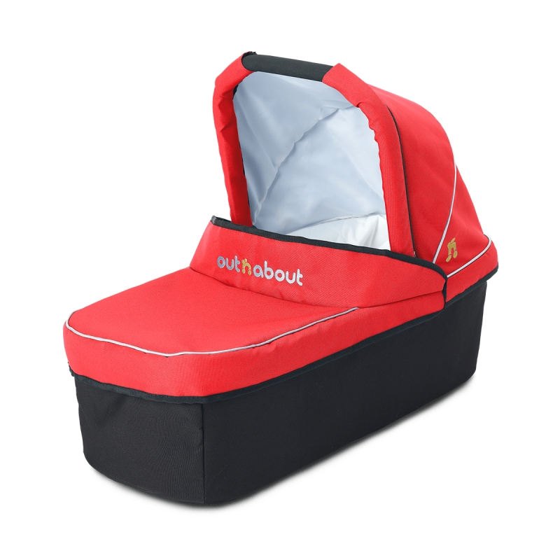 Out 'n' About Nipper Single Carrycot-Carnival Red