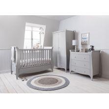 Tutti Bambini Roma Sleigh 3 Piece Room Set-Dove Grey + FREE Pocket Sprung Mattress Worth £109.99!