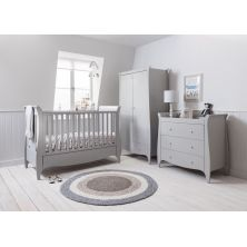 Tutti Bambini Roma Sleigh 3 Piece Room Set-Dove Grey