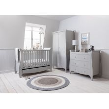 Tutti Bambini Roma Mini Sleigh 3 Piece Room Set-Dove Grey