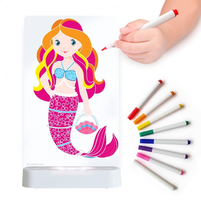 Image of Aloka Colour And Shine Children's Night Light-Mermaid