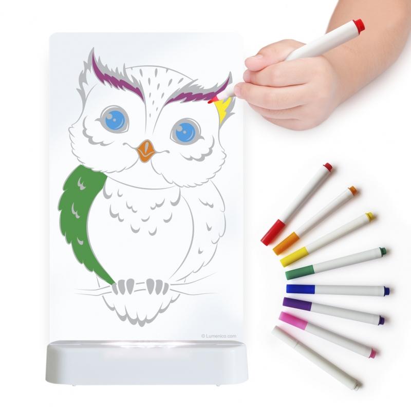 Image of Aloka Colour And Shine Children's Night Light-Owl
