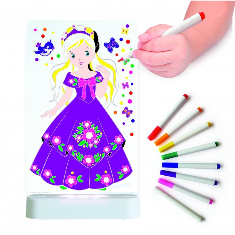 Image of Aloka Colour And Shine Children's Night Light-Princess