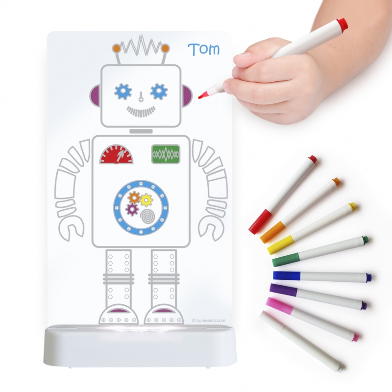 Image of Aloka Colour And Shine Children's Night Light-Robot