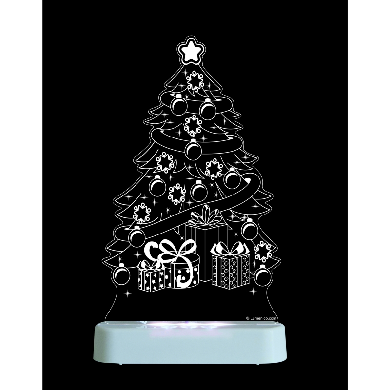 Image of Aloka Multi Coloured Children's Night Light-Christmas Tree