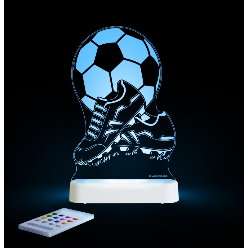 Image of Aloka Multi Coloured Children's Night Light-Football & Boots