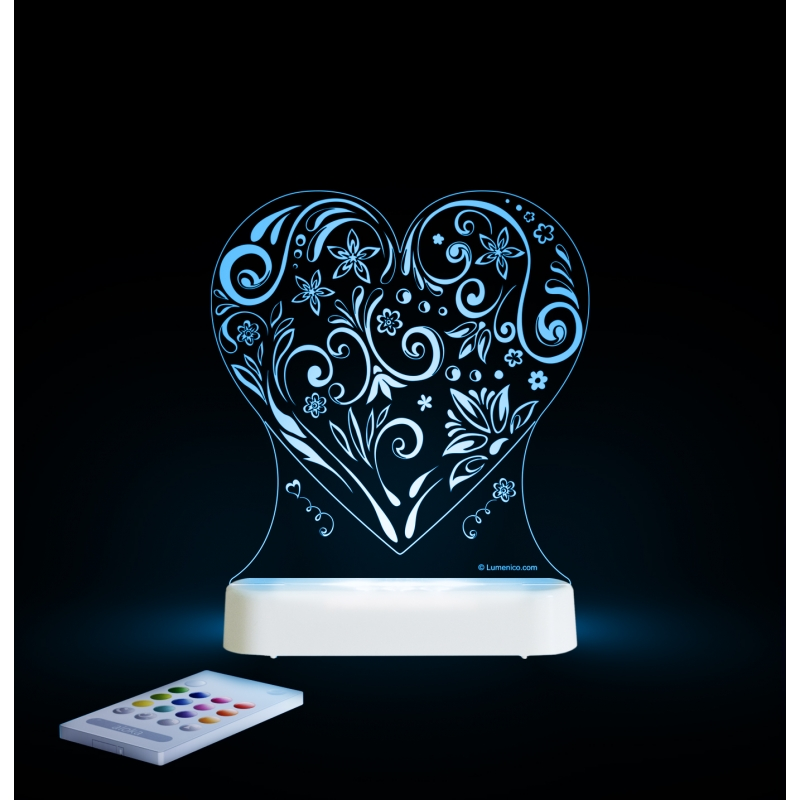 Image of Aloka Multi Coloured Children's Night Light-Love Heart