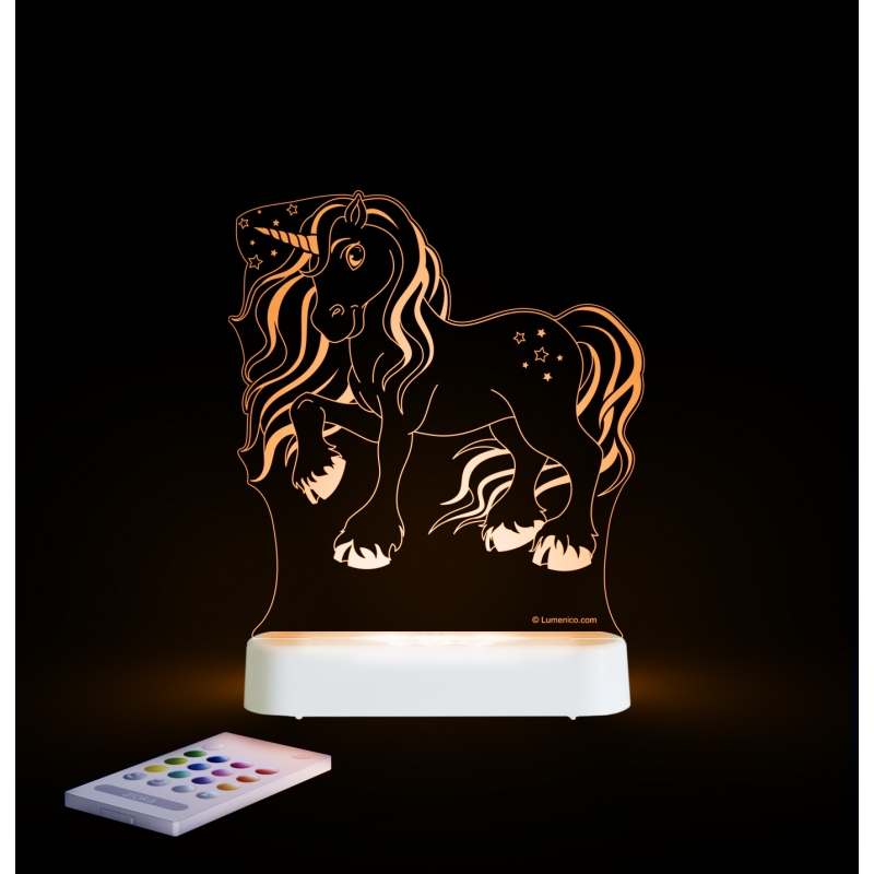Aloka Multi Coloured Children's Night Light-Unicorn