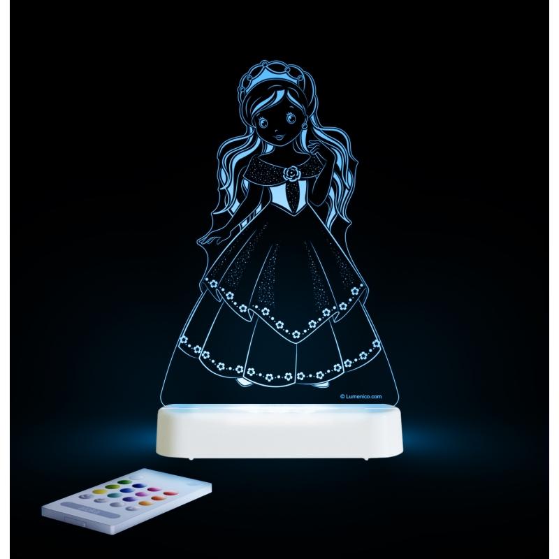 Aloka Multi Coloured Children's Night Light-Princess