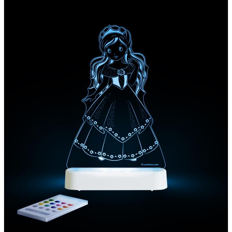 Image of Aloka Multi Coloured Children's Night Light-Princess
