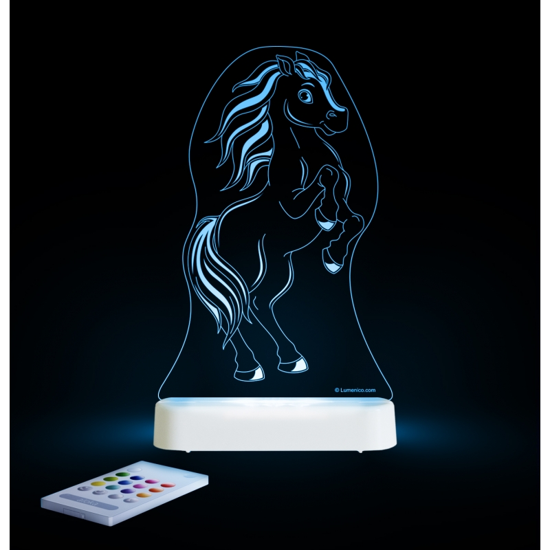 Image of Aloka Multi Coloured Children's Night Light-Pony