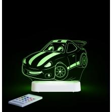 Aloka Multi Coloured Children's Night Light-Race Car
