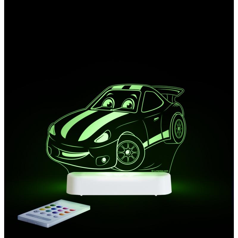 Image of Aloka Multi Coloured Children's Night Light-Race Car