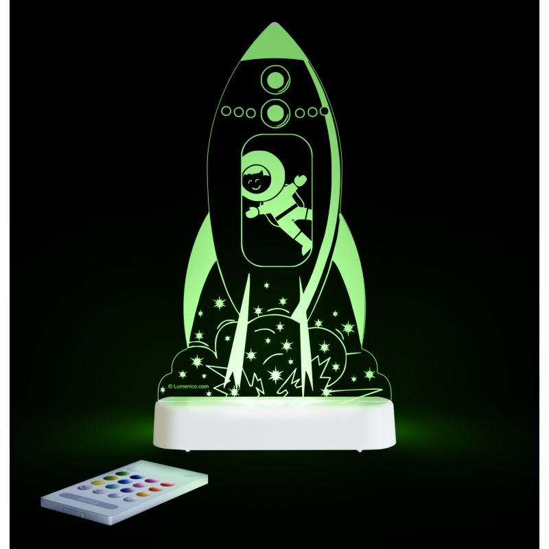 Image of Aloka Multi Coloured Children's Night Light-Rocket