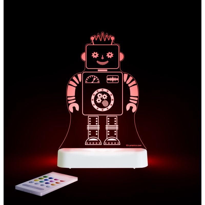 Image of Aloka Multi Coloured Children's Night Light-Robot