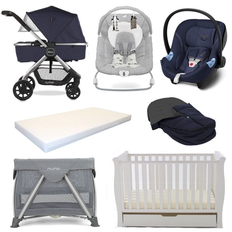 Diono Quantum Pushchair 7 Piece Bundle-Navy