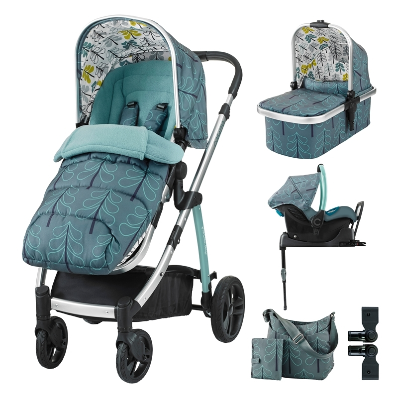 Cosatto Wow 3in1 Whole 9 Yards Travel System with Port 0+ Car Seat-Fjord