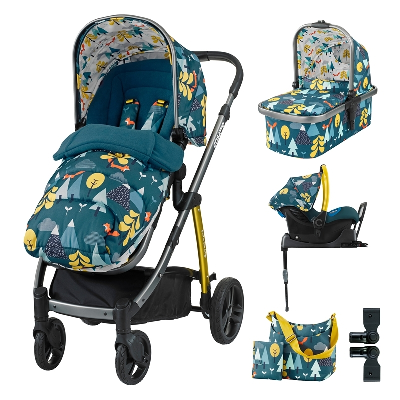 Cosatto Wow 3in1 Whole 9 Yards Travel System with Port 0+ Car Seat-Fox Tale