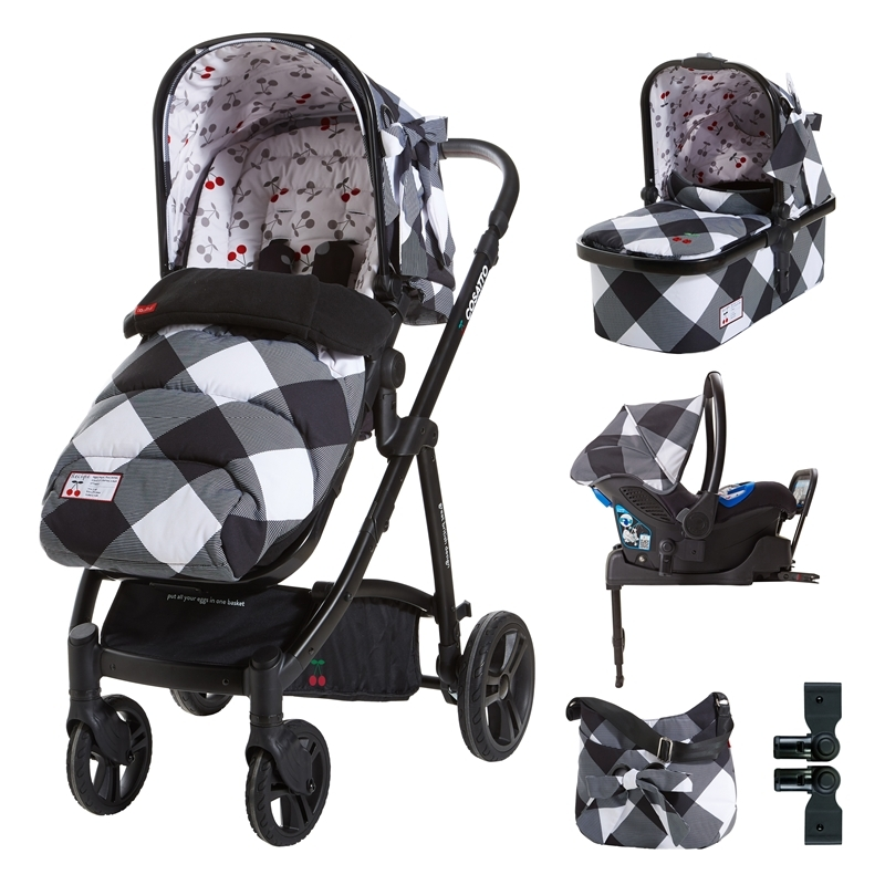 Cosatto Wow 3in1 Whole 9 Yards Travel System with Port 0+ Car Seat-Mademoiselle