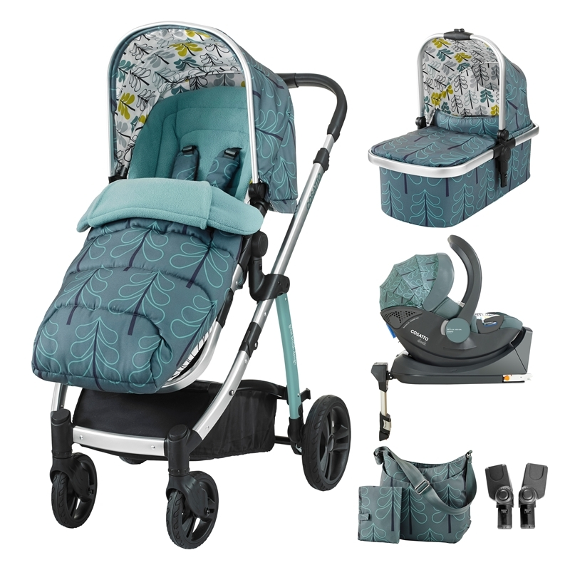 Cosatto Wow 3in1 Whole 9 Yards Travel System with Dock 0+ Car Seat-Fjord
